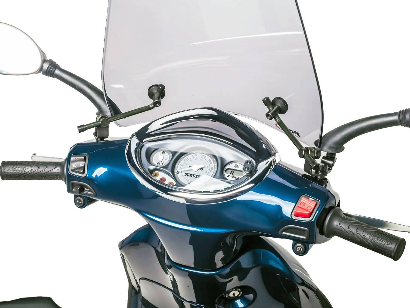 windshield puig trafic smoke for piaggio fly 50 (05-14) | scooter