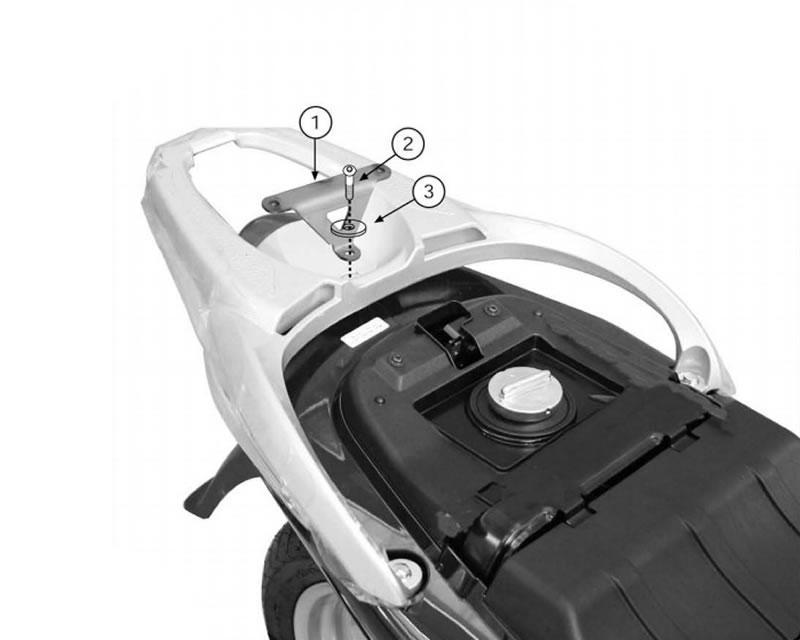 Top Case Givi Monolock Scooter Trunk Mounting Kit For Honda Sh 125